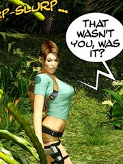 Lara Croft. The Weed Rider
